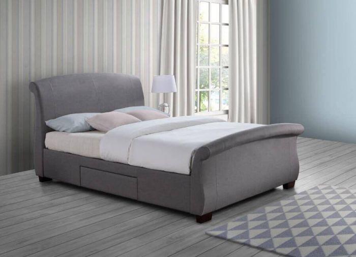 Sants Grey Fabric Bed Frames