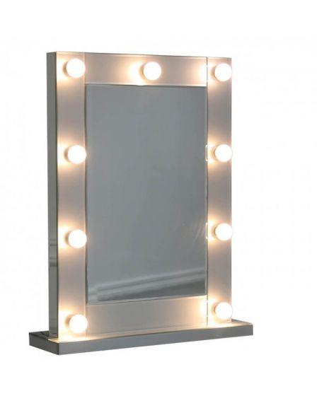 Grey Tinted Glass Broadway Light Up Mirror