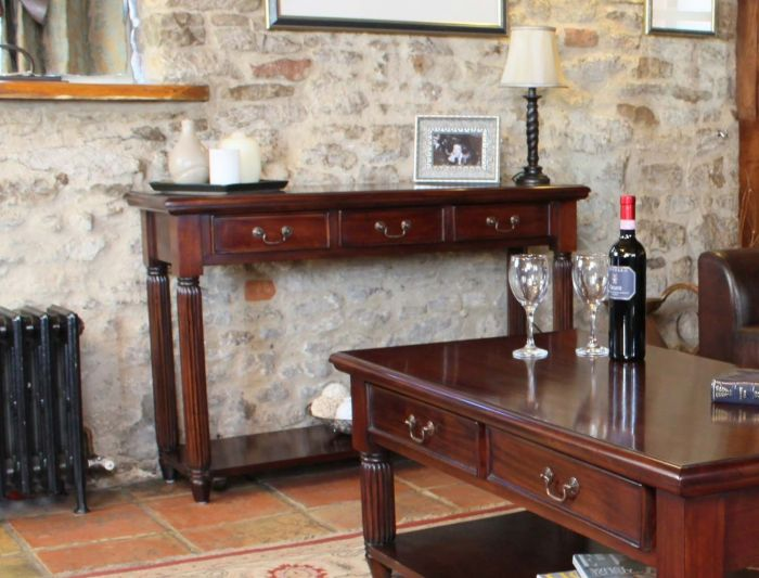 Hand Crafted Console / Hall Table (With Drawers)