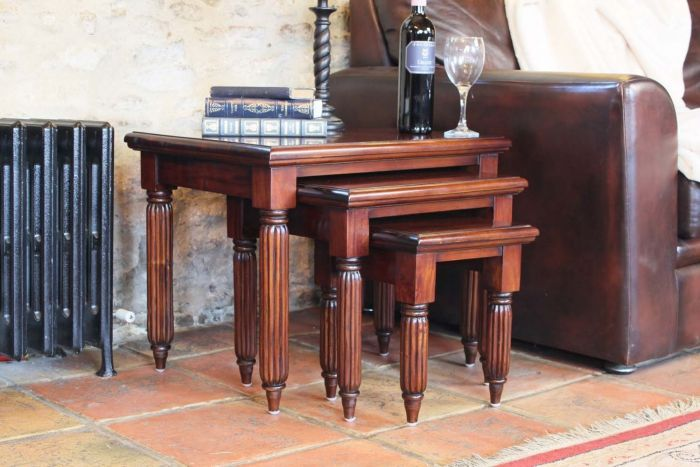 Hand Crafted Nest of Coffee Tables