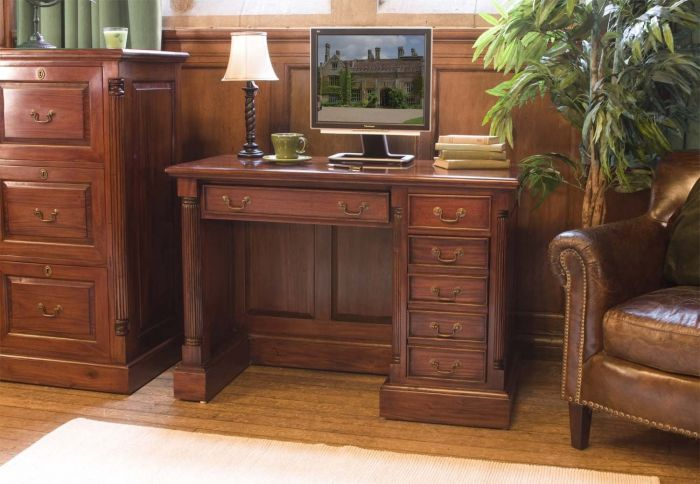 Hand Crafted Single Pedestal Computer Desk