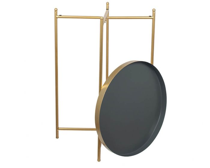 Hendra Gold and Grey Large Side Table
