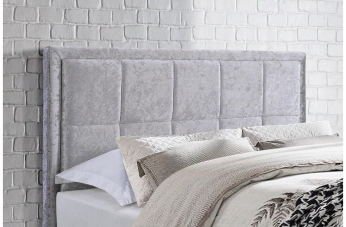 Helen Fabric Steel Or Grey Bed Frames