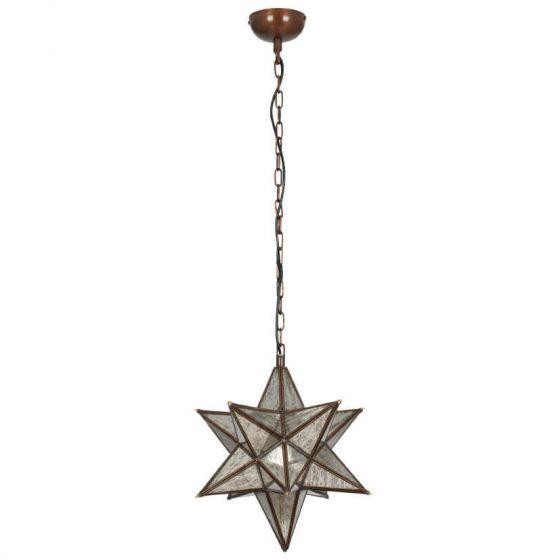 Industrial Antique Mirror Star Pendant