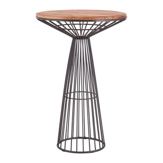 Industrial Wire Metal Curved Bar Table