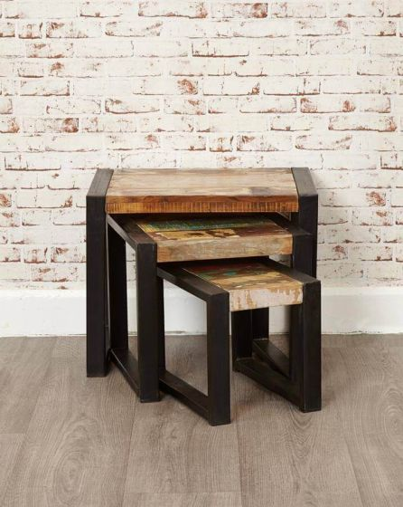 Industrial Reclaimed Nest of Tables