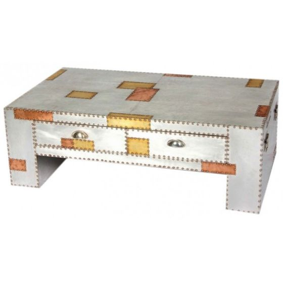 Russell Industrial Alu & Copper Coffee Table