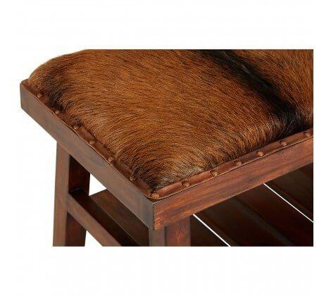 Inca Brown Teak Wood Bench