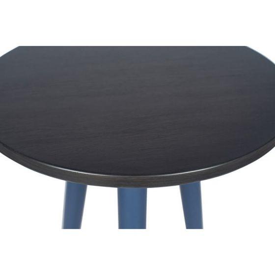 Indigo & Gunmetal Tripod Side Table