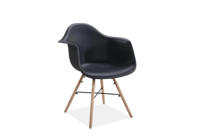 Jeremiah Curved Chair Black
