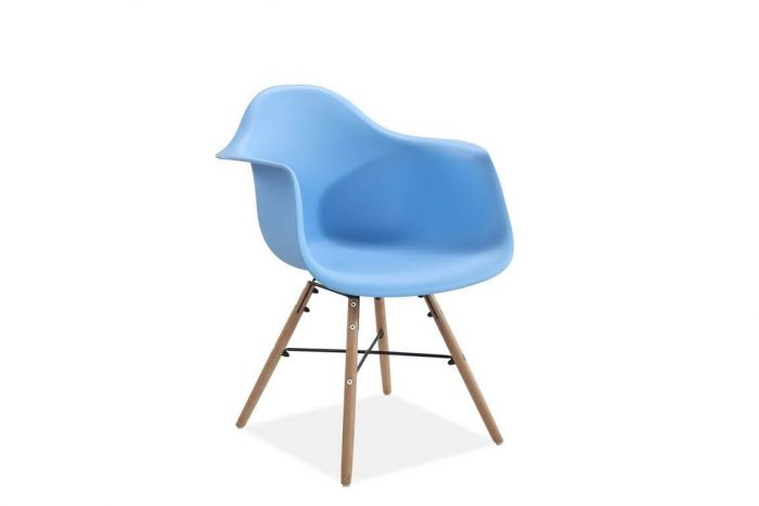 Jeremiah Curved Chair Blue