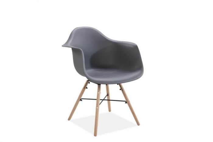 Jeremiah Curved Chair Grey