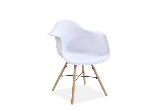 Jeremiah Curved Chair White