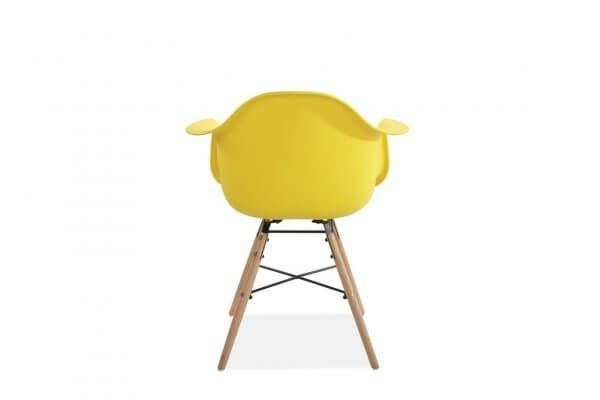 Jeremiah Curved Chair Yellow