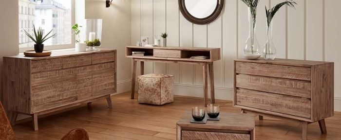 Kalm Sand Wash 1 Drawer Bedside