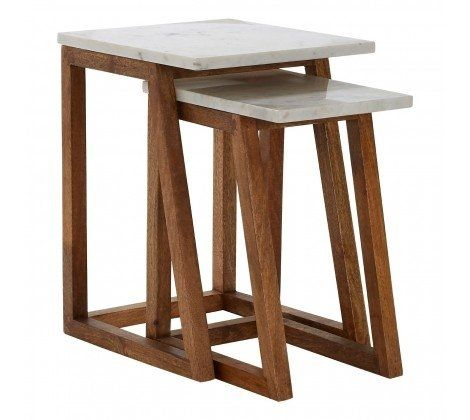 Kanpur Marble Set of 2 Tables