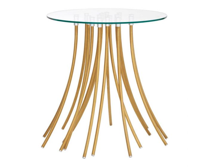 Kent Gold Finish Metal Side Table