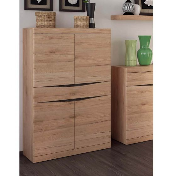 Kensington Living 4 Door 1 Drawer Cupboard In Oak