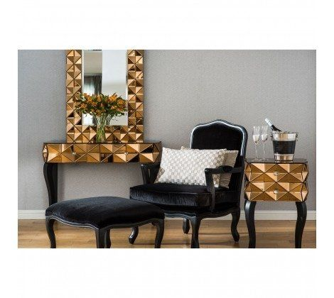 Kent Mirrored Console Table