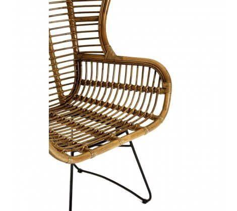 Kuba Rattan and Iron Large Chair