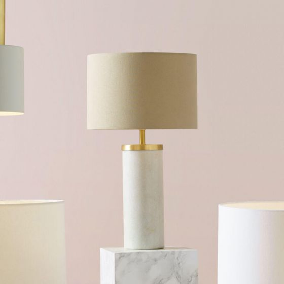 Adlington Large Marble and Light Bronze Table Lamp