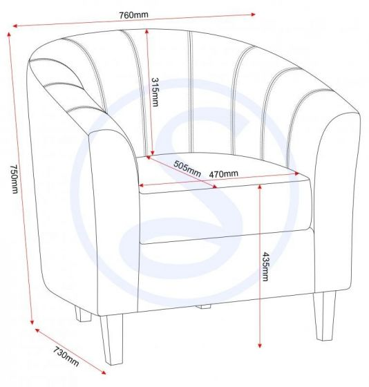 Black PU Tub Chair