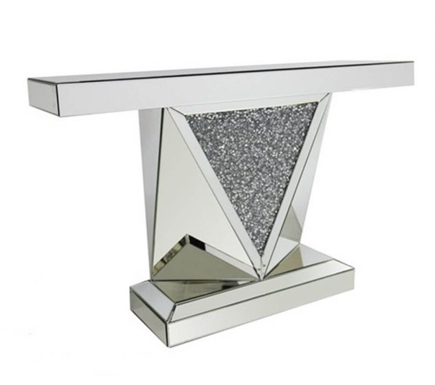 Lewis Black Mosaic Mirrored Retro Console Table