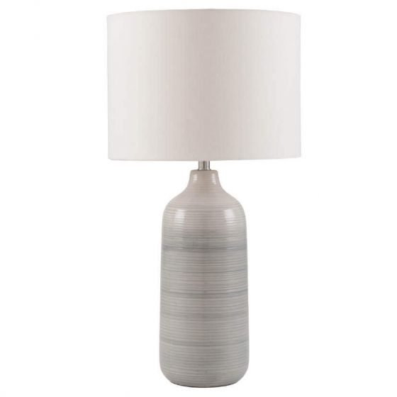 Light Grey Ombre Ceramic Table Lamp