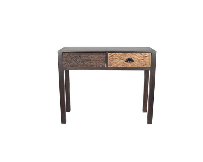 Ludovica Hand Carved Patterned 2 Drawer Console
