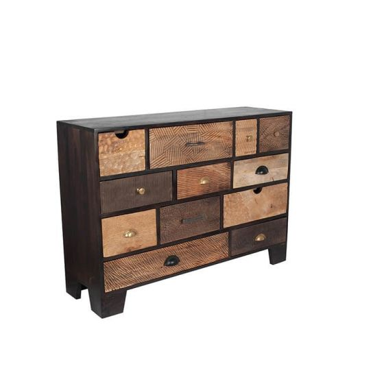 Ludovica Hand Carved Patterned 12 Drawer Chest