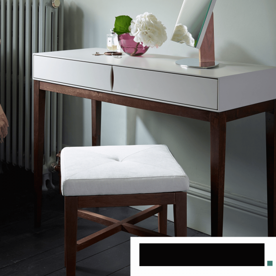 Matt White and Wood Console Table Only