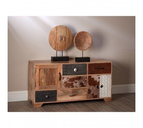 Mara Mango Wood Colourful Low Cabinet
