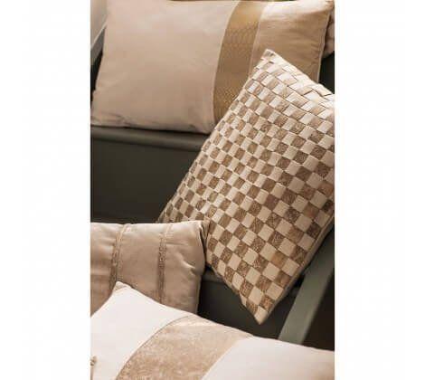 Marston Town Gold Check Cushion