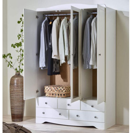 Milly 3 + 5 Wardrobe with Mirror