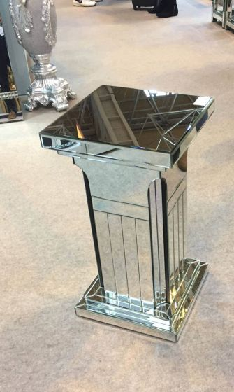 Milo Mirrored Column Stand