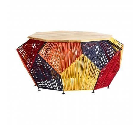 Multi Coloured Fabric Fusion Coffee Table