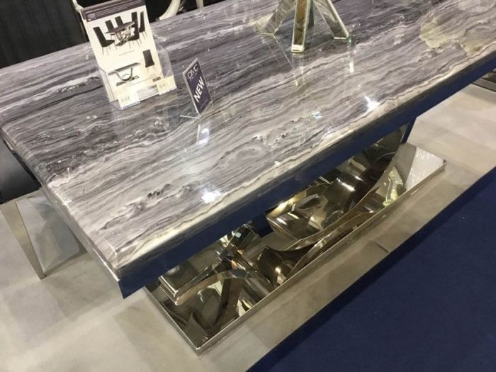 Neptune Grey Marble Coffee Table