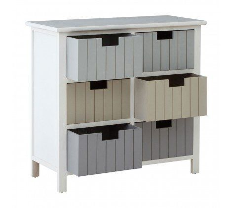 New England 6 Drawer Chest