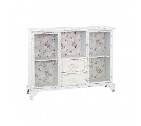 New York 2 Door 2 Drawer Distressed Cabinet White