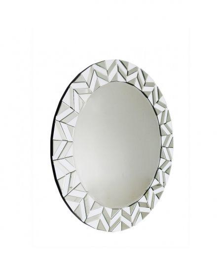 New York White Tiled Wall Mirror