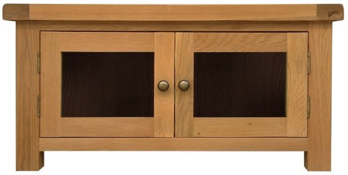 Oak Standard TV Unit with glass door