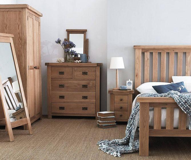 Oakhouse Oak Large 3 Drawer Bedside