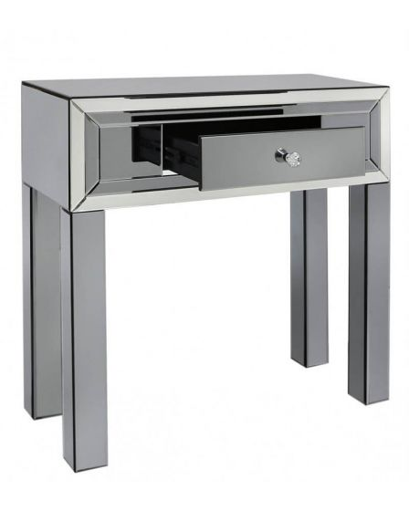 Oliver Smoked Glass Console Table