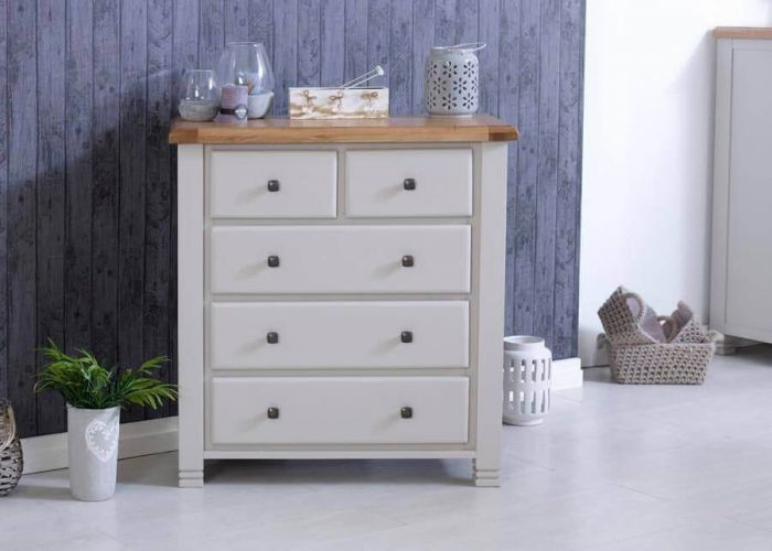 Oxfordshire Chest Of 5 Drawers - Grey