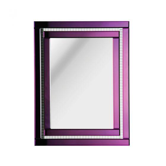 Purple Edged Art Deco Mirror