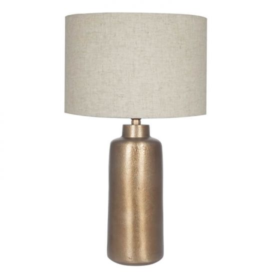 Raw Brass Effect Table Lamp