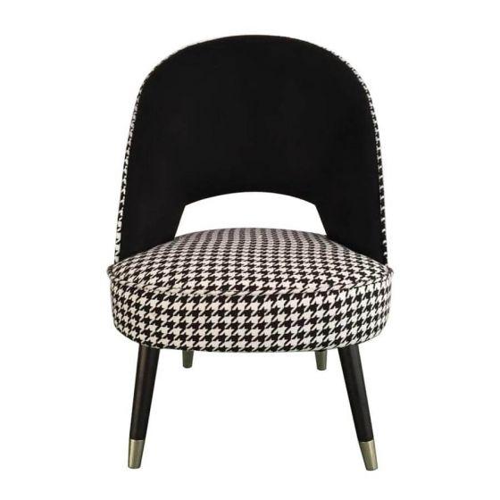 Regents Dogtooth Velvet Chair