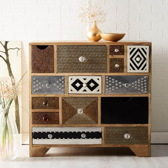 Retro Patch 11 Drawer Chest