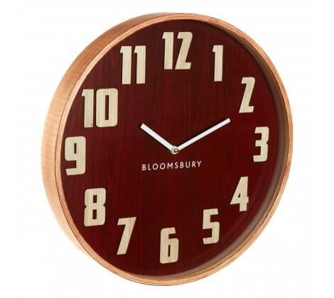 Red Grain Large Wall Clock