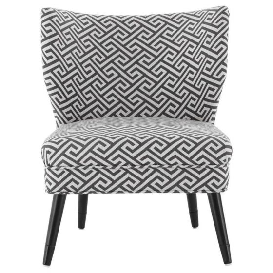Regents Park Jacquard Grey Chair